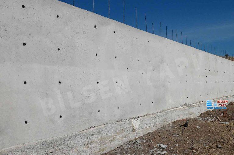 Beton istinat duvarı yapımı