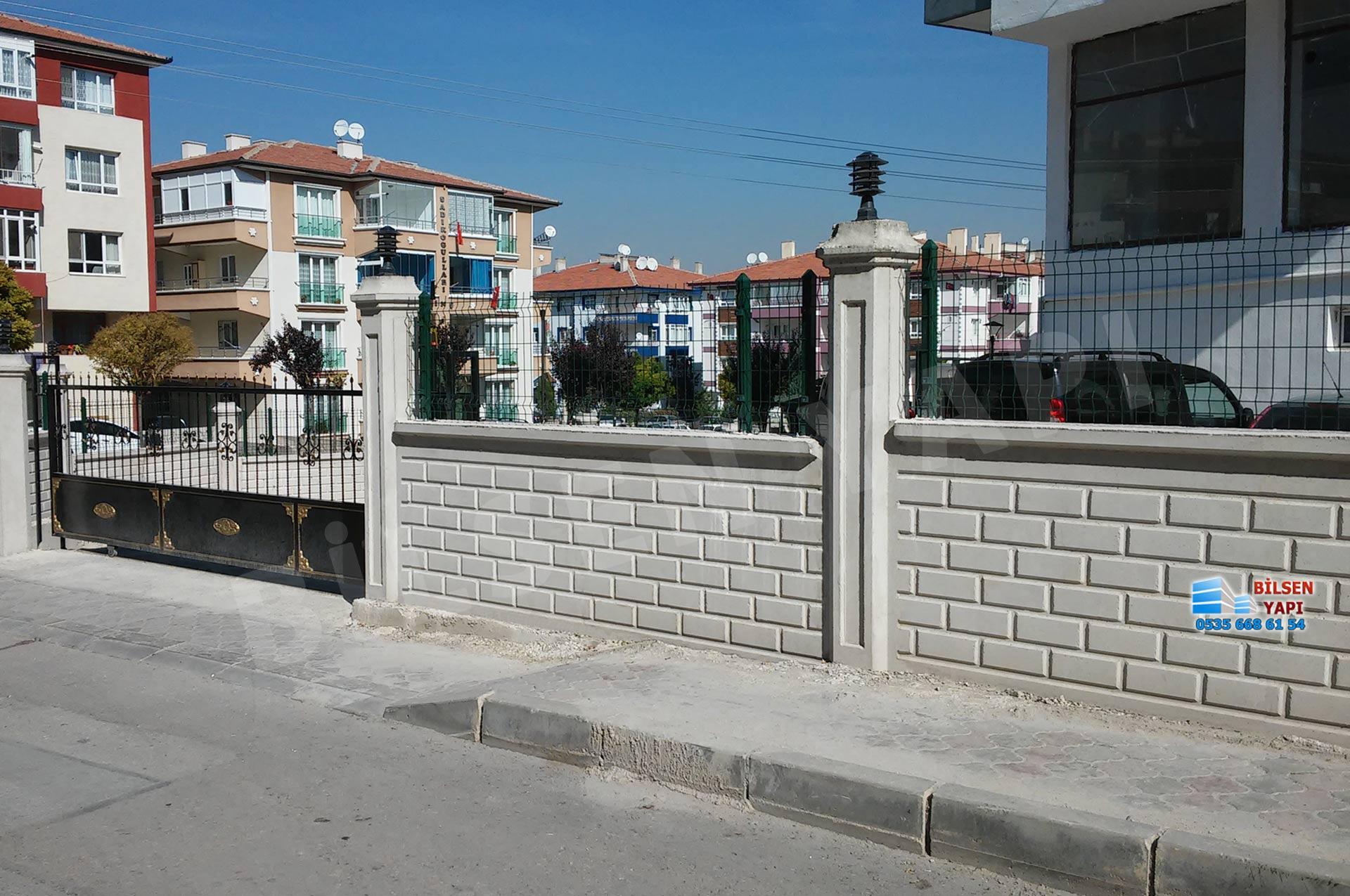 beton desenli bahçe duvarı yapımı